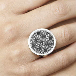 Vintage Damask Brocade Retro Jewelry Rings