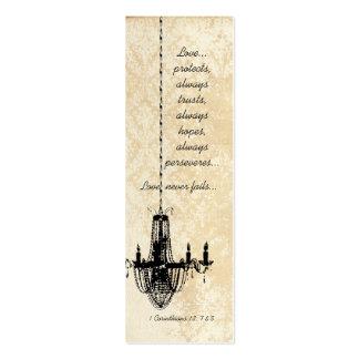 Vintage Damask Chandelier Wedding Tags Business Card