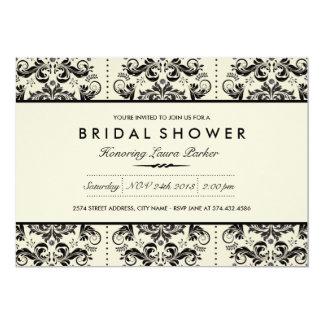 Vintage Damask | Cream Bridal Shower Invitation