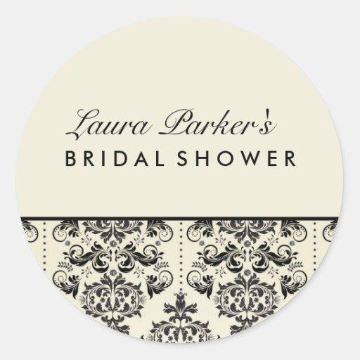 Vintage Damask | Cream Bridal Shower Sticker