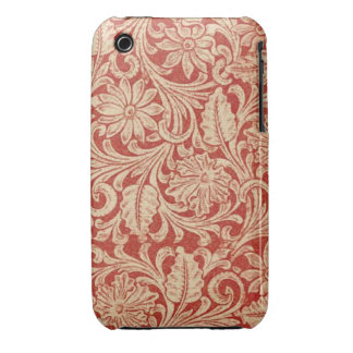 Vintage Damask Floral Red Case-Mate iPhone 3G/3GS iPhone 3 Cover
