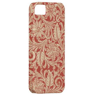 Vintage Damask Floral Red Case-Mate iPhone 5 Barely There iPhone 5 Case