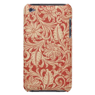 Vintage Damask Floral Red Case-Mate iPod Touch Barely There iPod Cases
