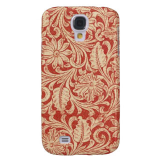 Vintage Damask Floral Red HTC Vivid Tough Samsung Galaxy S4 Case