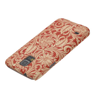 Vintage Damask Floral Red Samsung Galaxy Nexus Galaxy S5 Covers