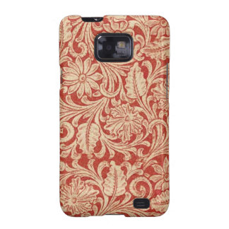 Vintage Damask Floral Red Samsung Galaxy S2 Samsung Galaxy SII Cover