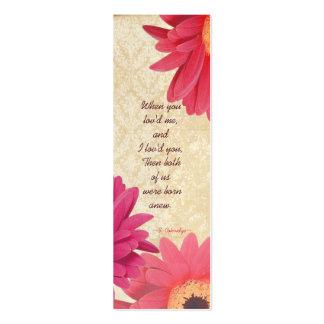 Vintage Damask Gerber Daisy Wedding Tags Business Cards