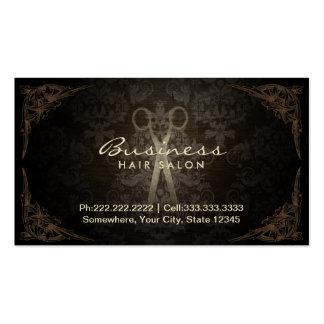 Vintage Damask Hair Stylist Salon Appointment Pack Of Standard Business Cards