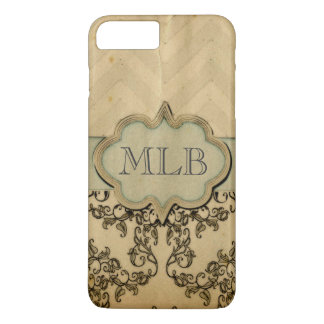 Vintage Damask & Monogram by Leslie Harlow iPhone 7 Plus Case