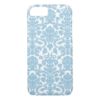 Vintage Damask Pattern - Light Blue iPhone 8/7 Case