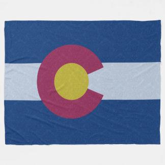 Vintage Damask Pattern State Flag of Colorado Fleece Blanket