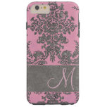 Vintage Damask Pattern with Monogram