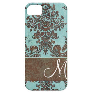 Vintage Damask Pattern with Monogram iPhone 5 Cover