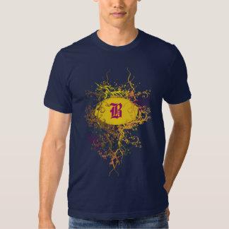 Vintage Damask Pattern with Monogram Letter B T-shirts