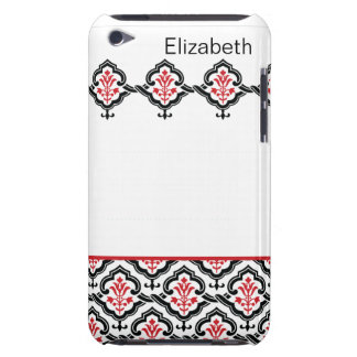 Vintage Damask Red iPod Touch Cases