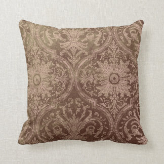 Vintage Damask Style Throw Pillow