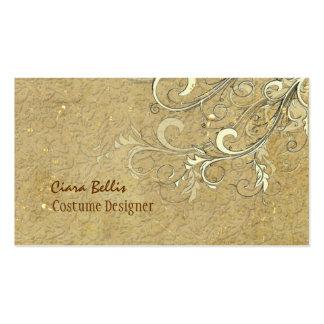 Vintage Damask + swirls Costume Designer Pack Of Standard Business Cards
