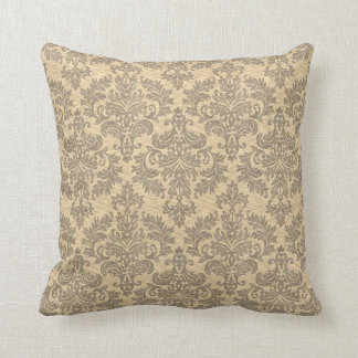 Vintage Damask Throw Pillow