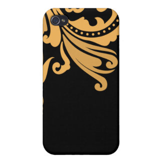 Vintage Damask You Can Change the Black iPhone iPhone 4 Cases