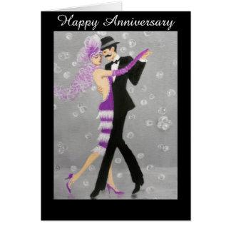 Vintage Dancers Anniversary Card