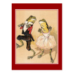Vintage Dancing Frogs Postcards