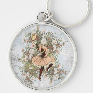 Vintage Dancing Gypsy Floral Mix and Match Key Ring