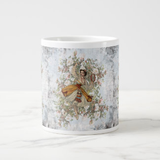 Vintage Dancing Gypsy Floral Mix and Match Large Coffee Mug
