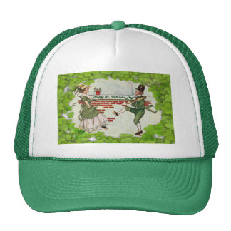 Vintage Dancing Irish Couple Hat