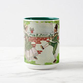 Vintage Dancing Irish Couple Mug