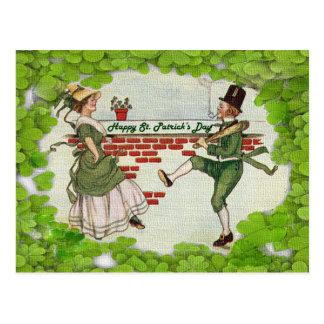 Vintage Dancing Irish Couple Postcards