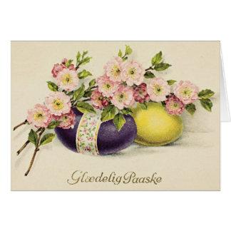 Vintage Danish Easter Card - Glædelig Paaske