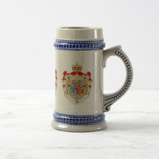 Vintage Danish Royal Coat of Arms of Denmark Beer Stein