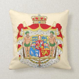 Vintage Danish Royal Coat of Arms of Denmark Cushion