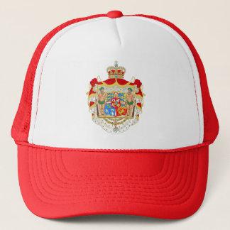 Vintage Danish Royal Coat of Arms of Denmark Trucker Hat