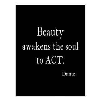Vintage Dante Beauty Awakens the Soul Quote Postcard