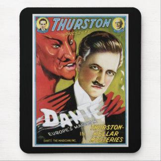 Vintage Dante, Europe's Magician Magic Poster Mouse Pad
