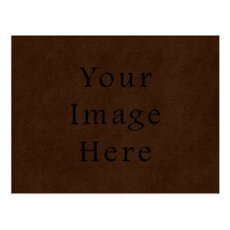 Vintage Dark Brown Espresso Parchment Paper Postcard