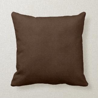 Vintage Dark Espresso Brown Parchment Template Cushion