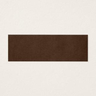 Vintage Dark Espresso Brown Parchment Template Mini Business Card