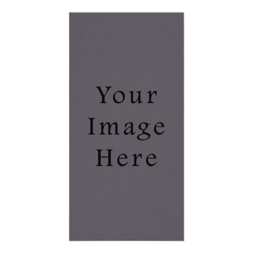 Vintage Dark Mauve Purple Color Trend Template Picture Card