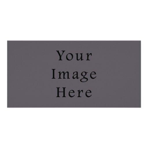 Vintage Dark Mauve Purple Color Trend Template Custom Photo Card