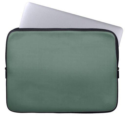 Vintage Dark Moss Green Color Trend Template Laptop Sleeve