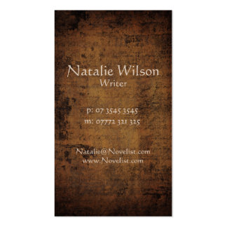 Vintage Dark Parchment - Business Card