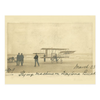 Vintage Daytona Beach Flying Machine, circa 1909 Postcard