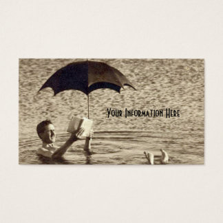 Vintage Dead Sea Umbrella Business Cards