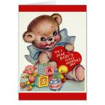 Vintage Dear Baby's 1st Valentine's Day Teddy Bear
