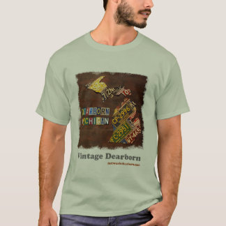 Vintage Dearborn: License Plate Map T-Shirt