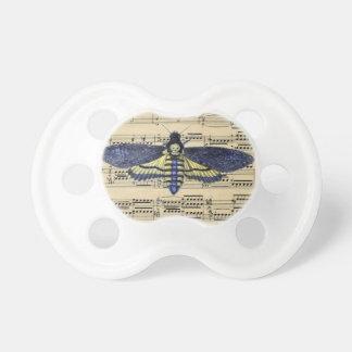 Vintage death moth music sheet mixed media dummy