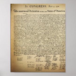 Vintage Declaration of Independence Poster