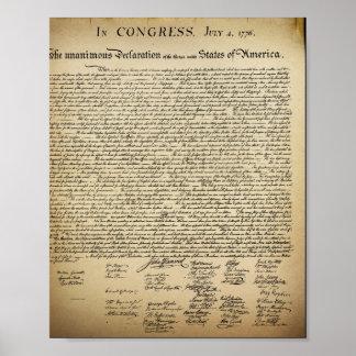 Vintage Declaration of Independence Print